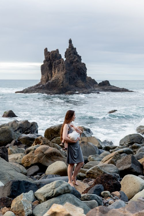 Breastfeeding by the sea